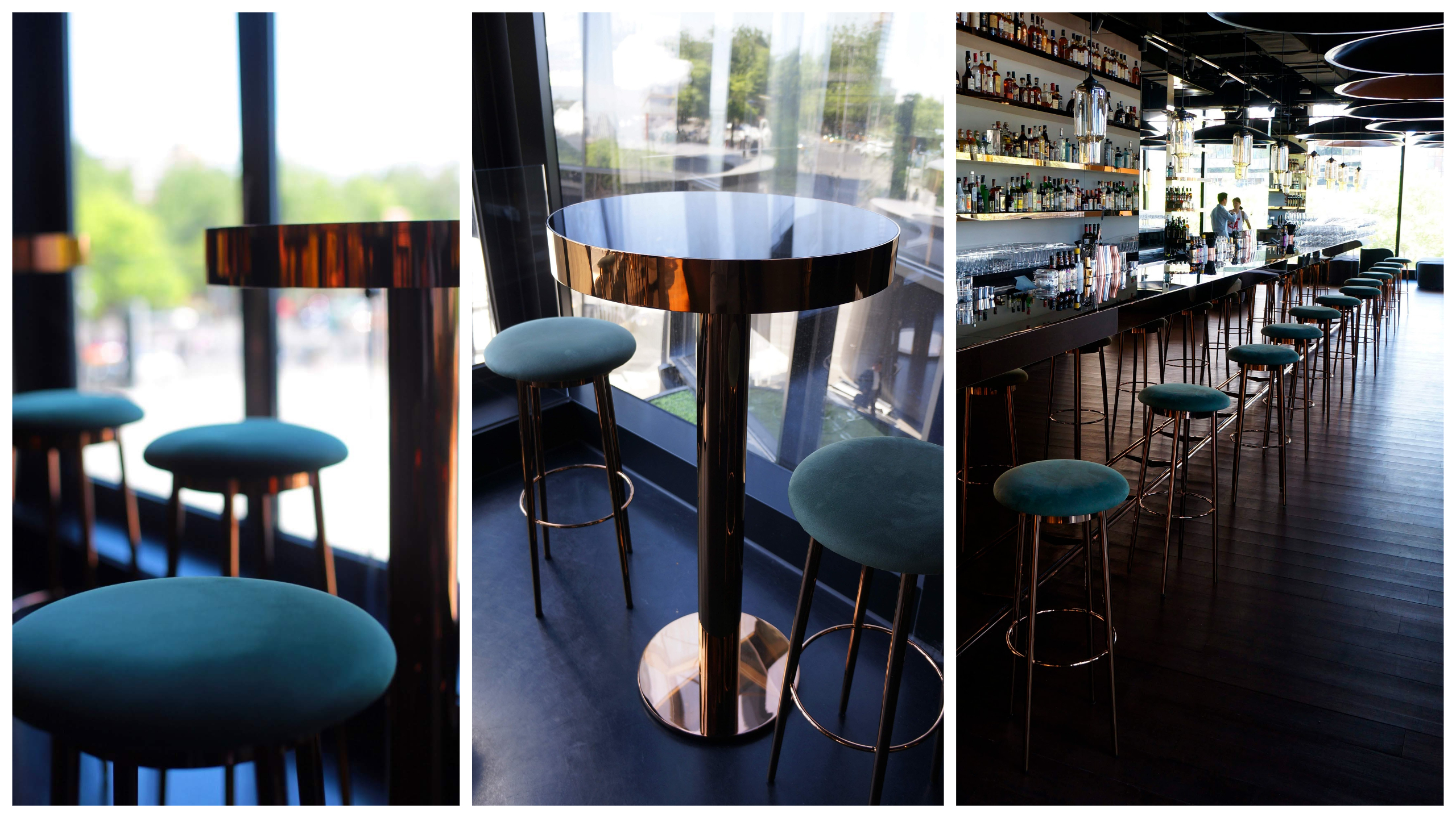 Mercedes Me Lighthaus Bar Stools and Table
