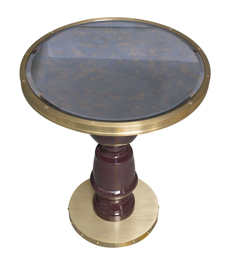 Annabels dining table antique mirror top - Decca Furniture