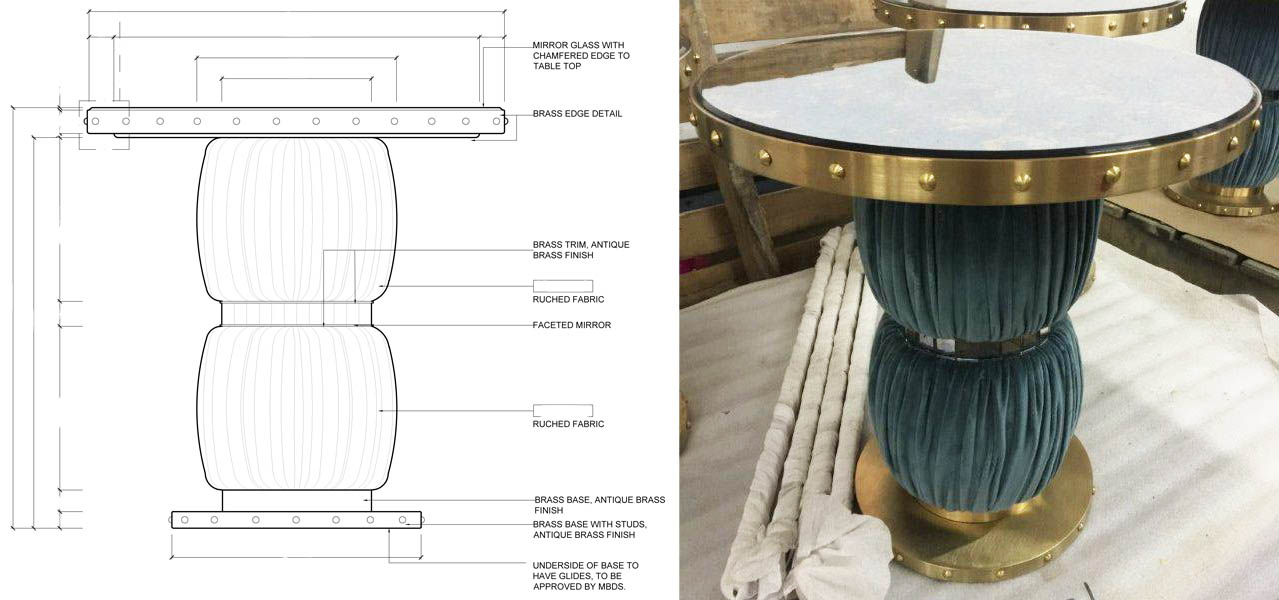 Annabels table upholstered base+shop drawing