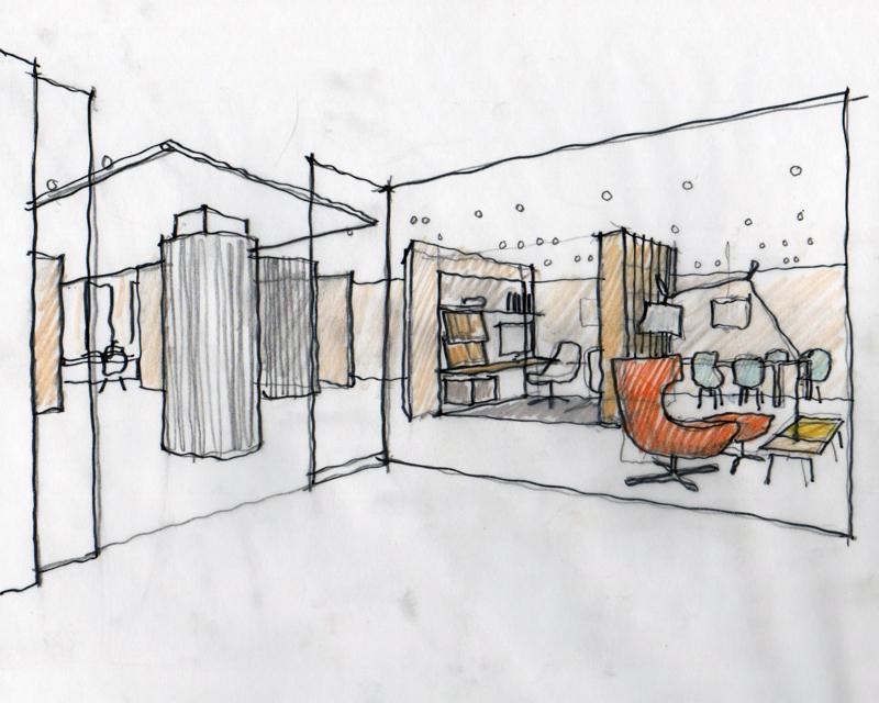 Brian Graham Design // Sketch for Neocon 2015 // Decca London