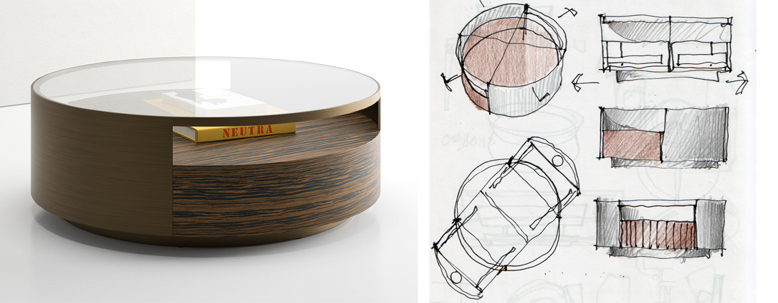 Museum Coffee Table designed by Brian Graham for Decca Contract by Decca