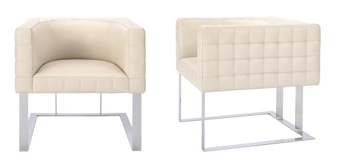 Cosmopolitan by Dakota Jackson - Decca London - Tufted cube chair - luxury furniture - luxury lounge chair - designers chair
