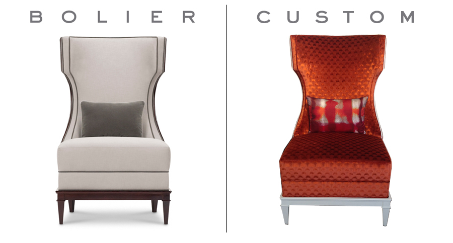 Customised Bolier pieces // Decca London blog // Customised lounge chair from the Modern Luxury collection by Bolier for Decca Home
