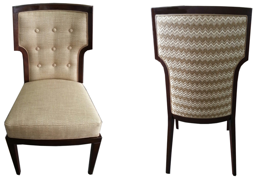 Customised Atelier dining chair designed by Joanna Trading for the Wimbledon's Club dining room