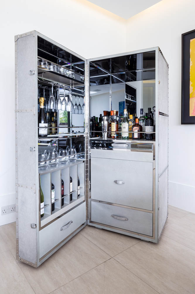 Decca London-residential projects-Michael Veal-bar cabinet-minibar-bespoke by decca