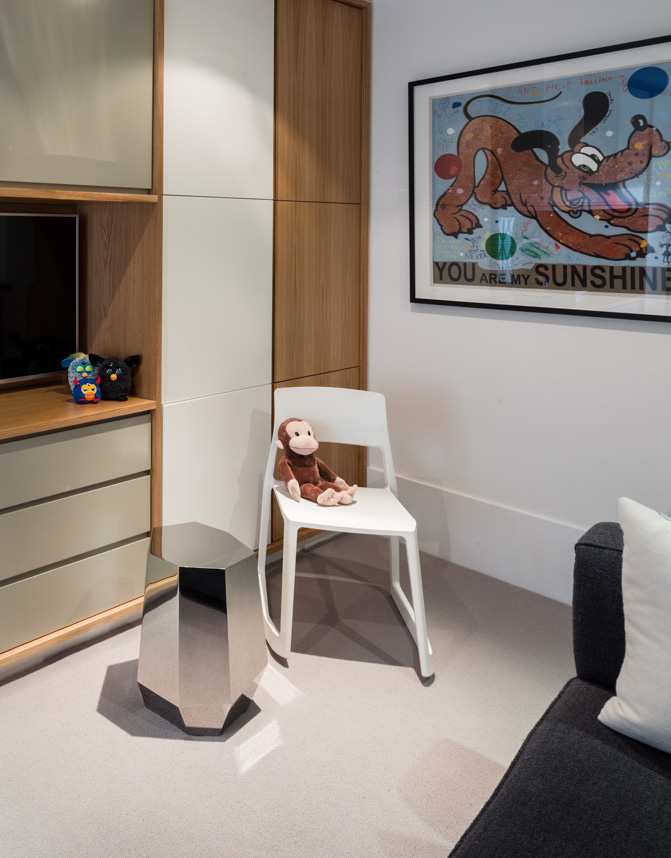 Decca London-residential projects-Michael Veal-playroom-teenage kids room-bespoke by decca