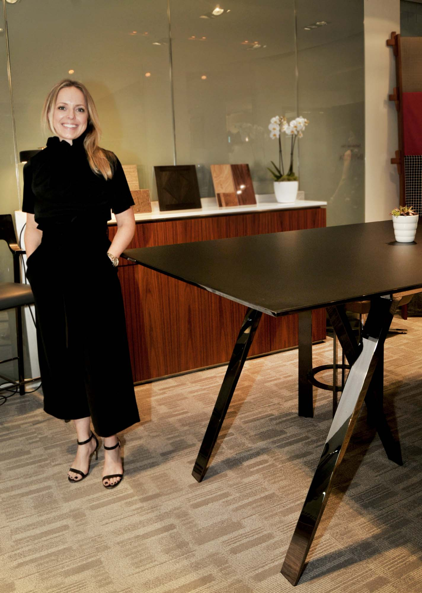 Erin Ruby and Gait table from Decca Contract