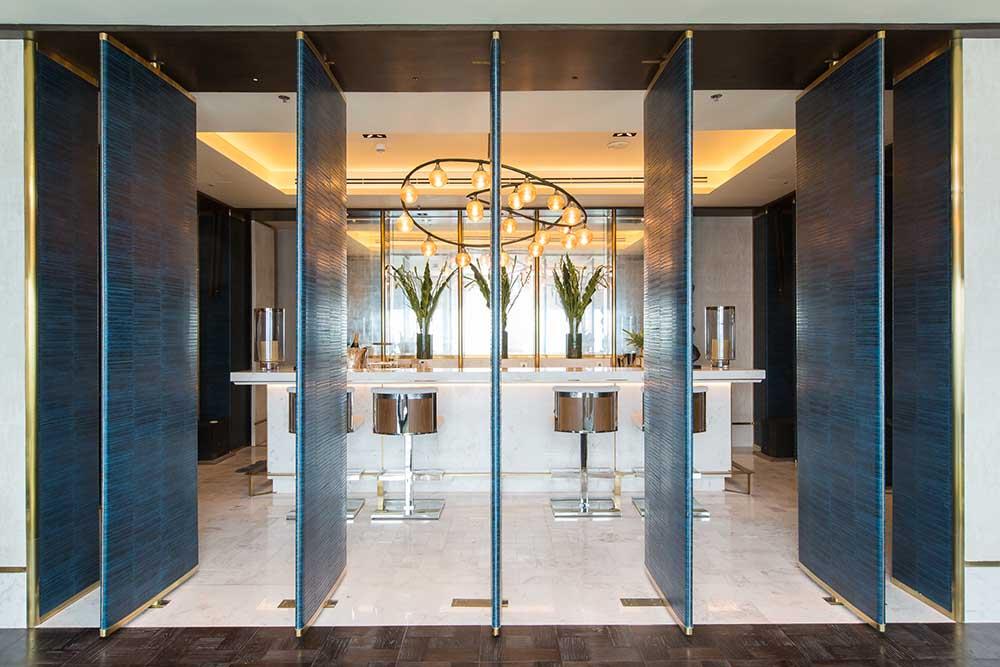 Ritz Carlton Residences MahaNakhon bespoke barstools 2
