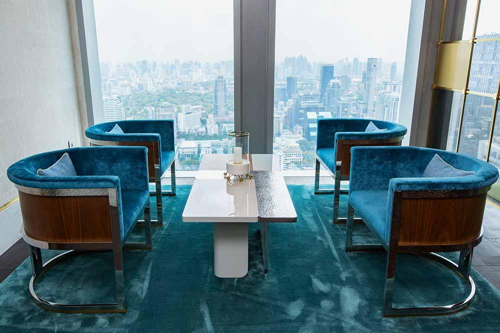 The Ritz Carlton Residences David Collins x Decca interior design blue room