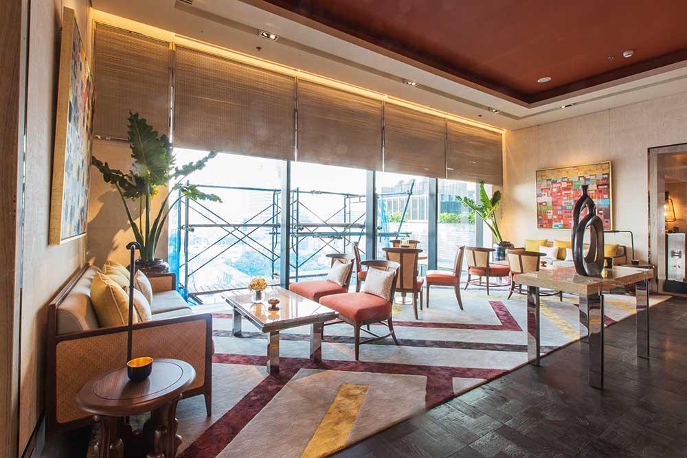 The Ritz Carlton Residences David Collins x Decca interior design burnt orange 2