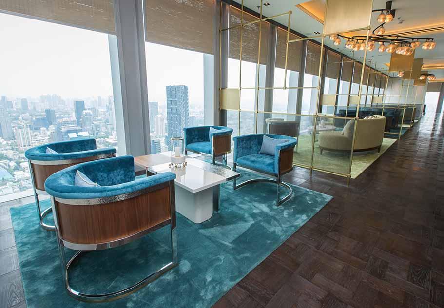The Ritz Carlton Residences David Collins x Decca panoramic view over Bangkok