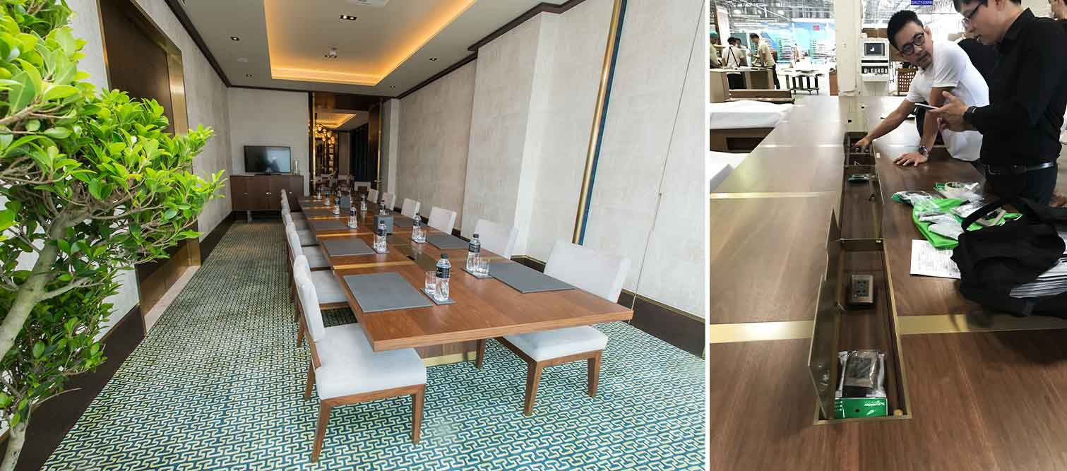 The Ritz Carlton Residences MahaNakhon 6 metre long meeting table with cable system