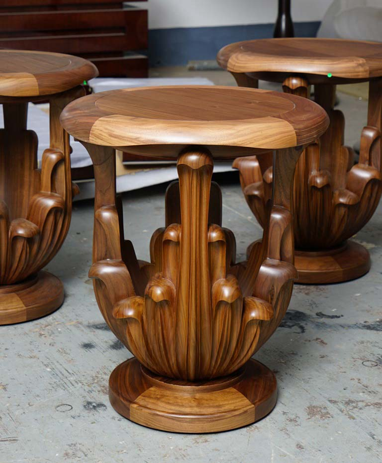 The Ritz Carlton Residences MahaNakhon David Collins x Decca hand-carved side table front