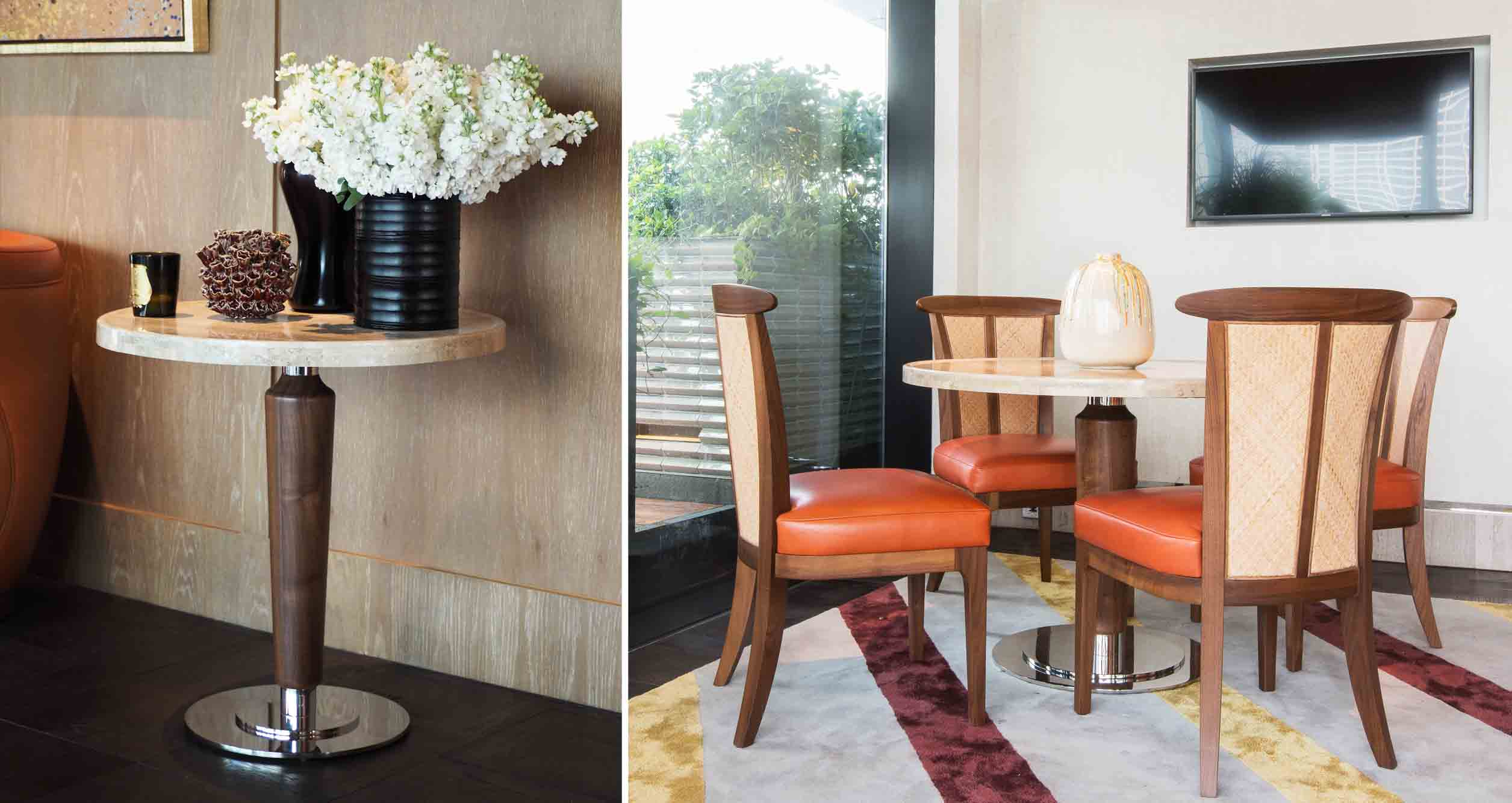 The Ritz Carlton Residences MahaNakhon David Collins x Decca round table with marble top