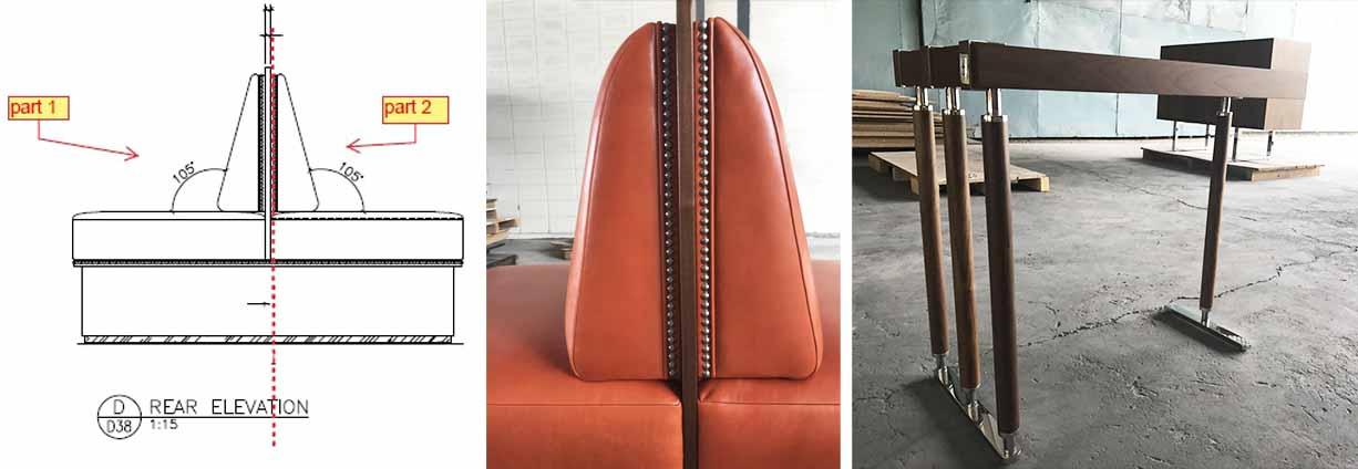 The Ritz Carlton Residences MahaNakhon double sided seating asymmetrical table