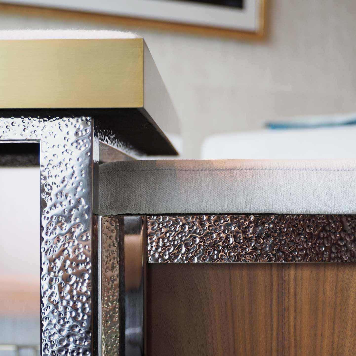 The Ritz Carlton Residences hammered metal detail