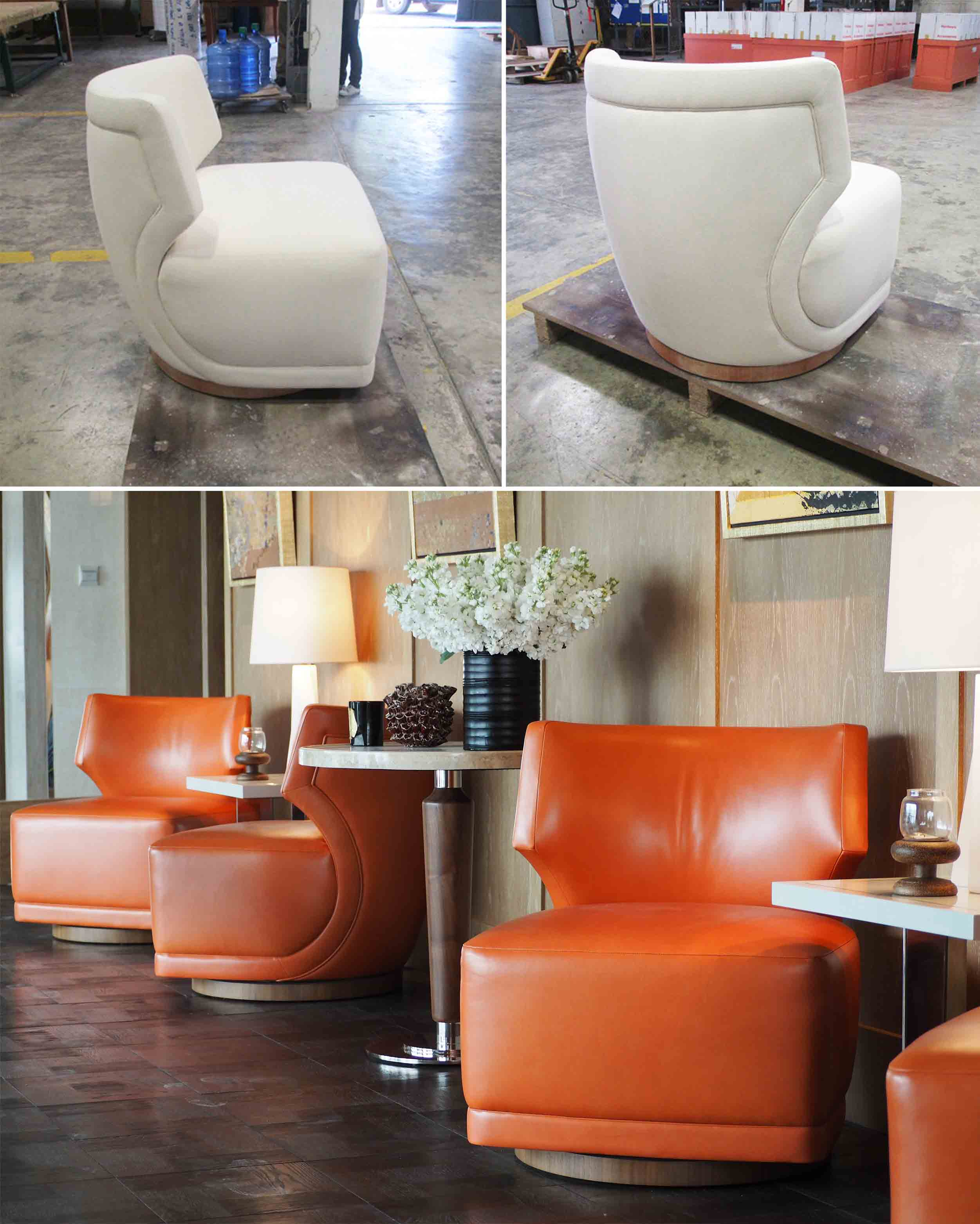 The Ritz Carlton Residences prototype lounge chair