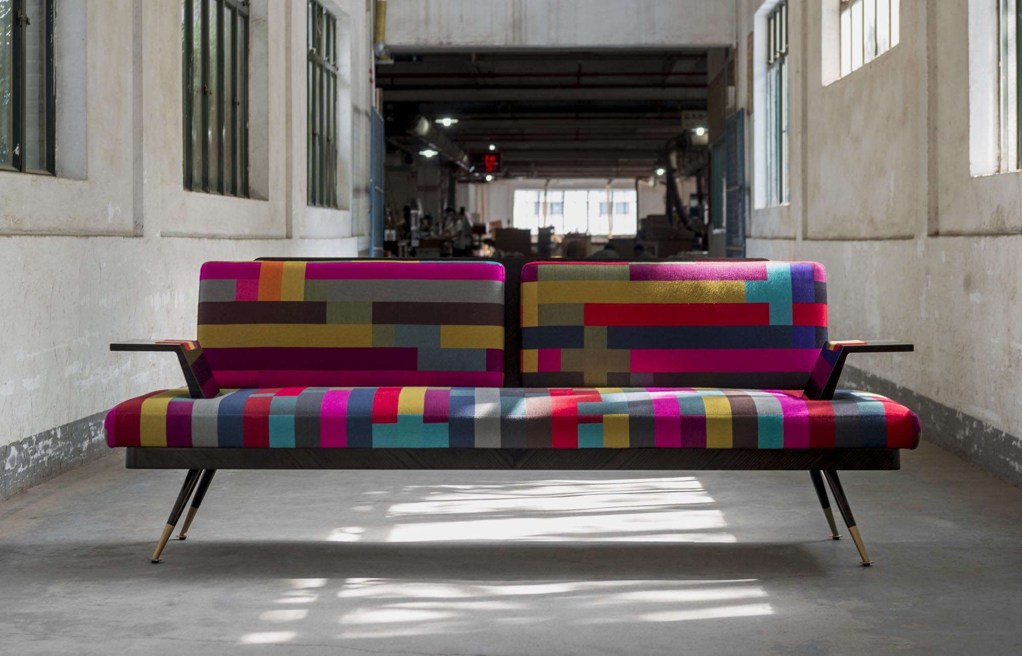 City Gull Wing Sofa The London Collection by Decca Home Assembly fabric