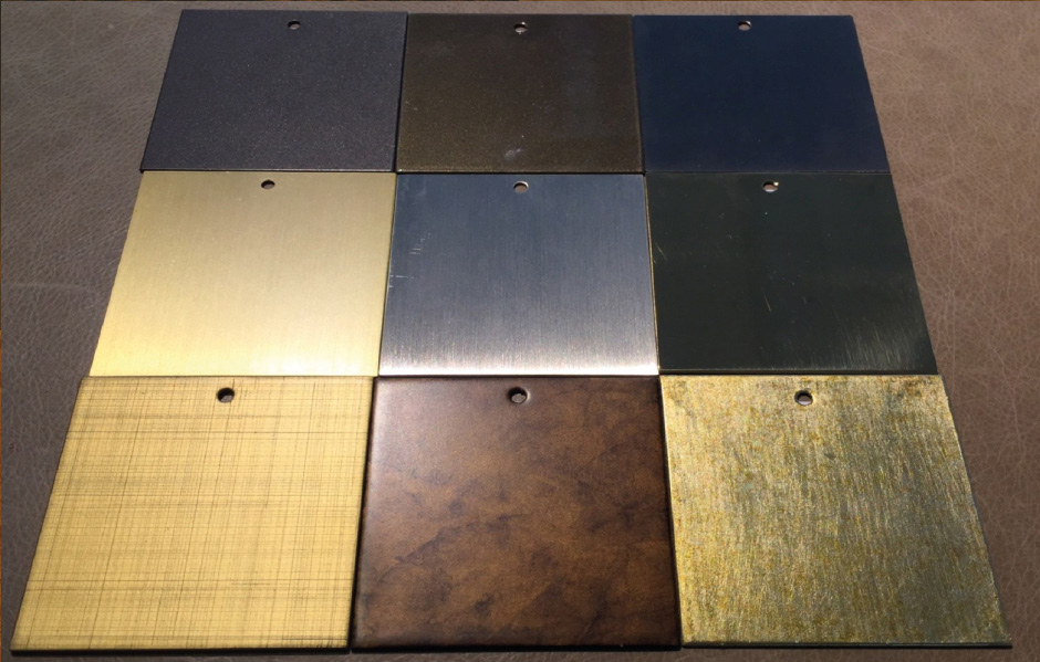 Popular standard metal finishes from the Decca Home brands