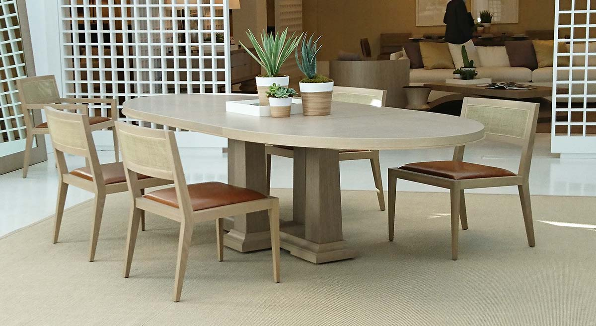 65016-0612 Expandable Oval Dining Table (room set)-Domicile-Modern Desert-Bolier-Decca
