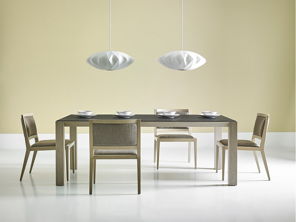 65025 Bevel Dining Table (room set)-Domicile-Modern Desert-Bolier-Decca