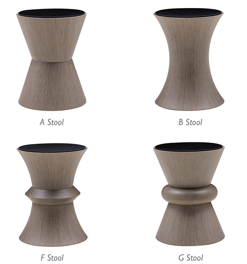 Domicile Collection - Stools in Modern Desert finish - Bolier&Co - Decca
