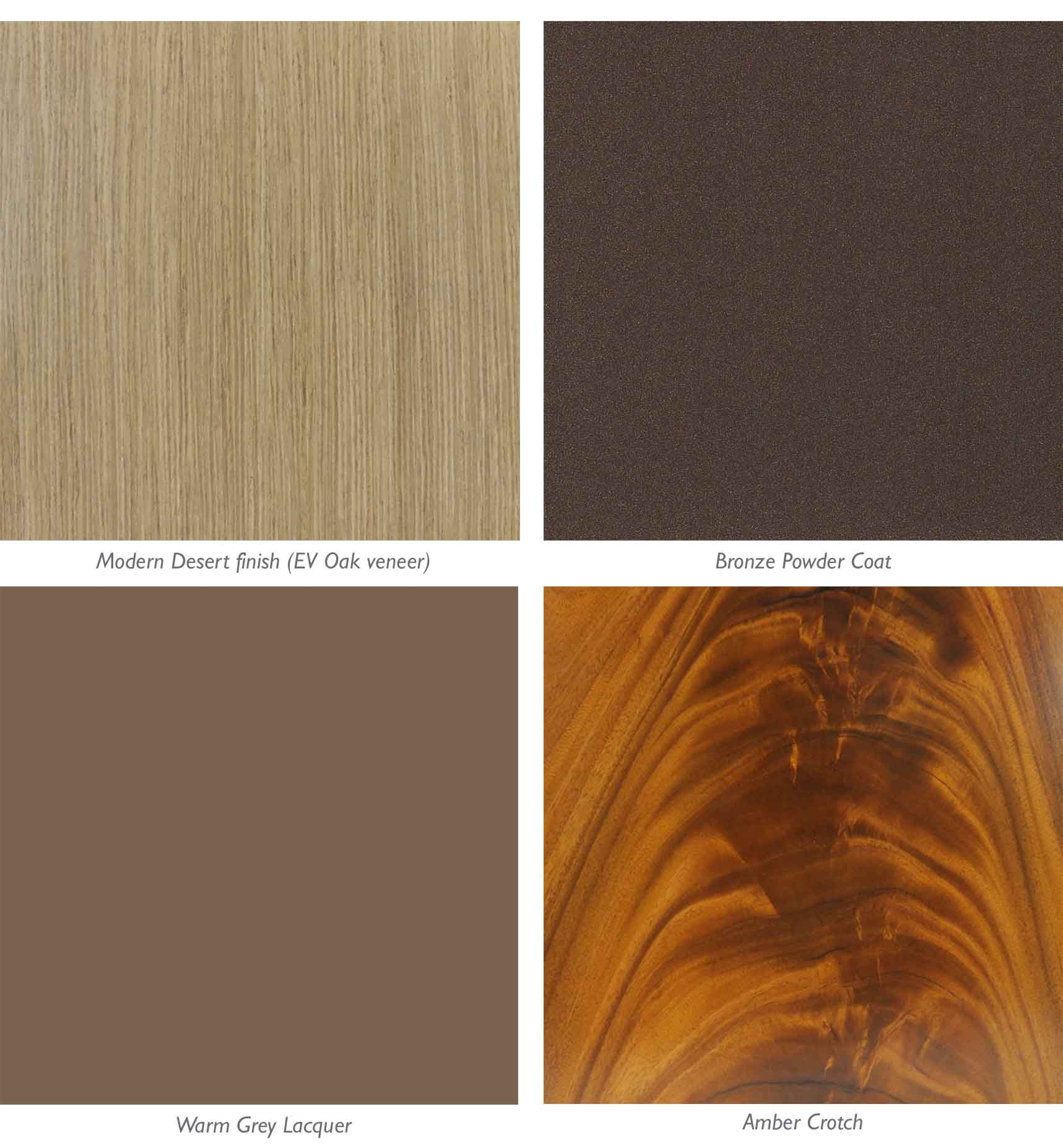 Domicile Collection by Bolier - Modern Desert finish palette
