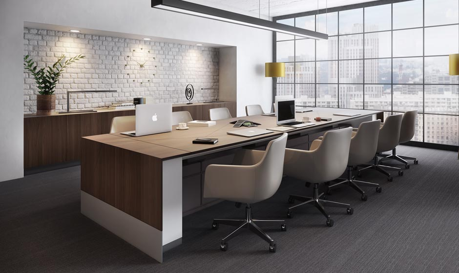 Decca Height adjustable conference table-Decca London-The Visual Shop1