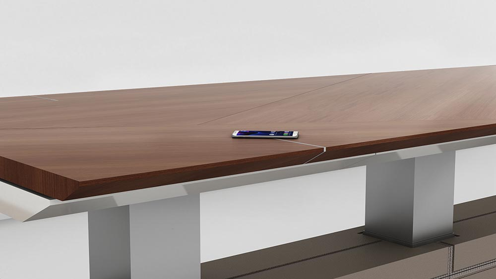 decca london-height adjustable conference table-motile-detail-decca charge