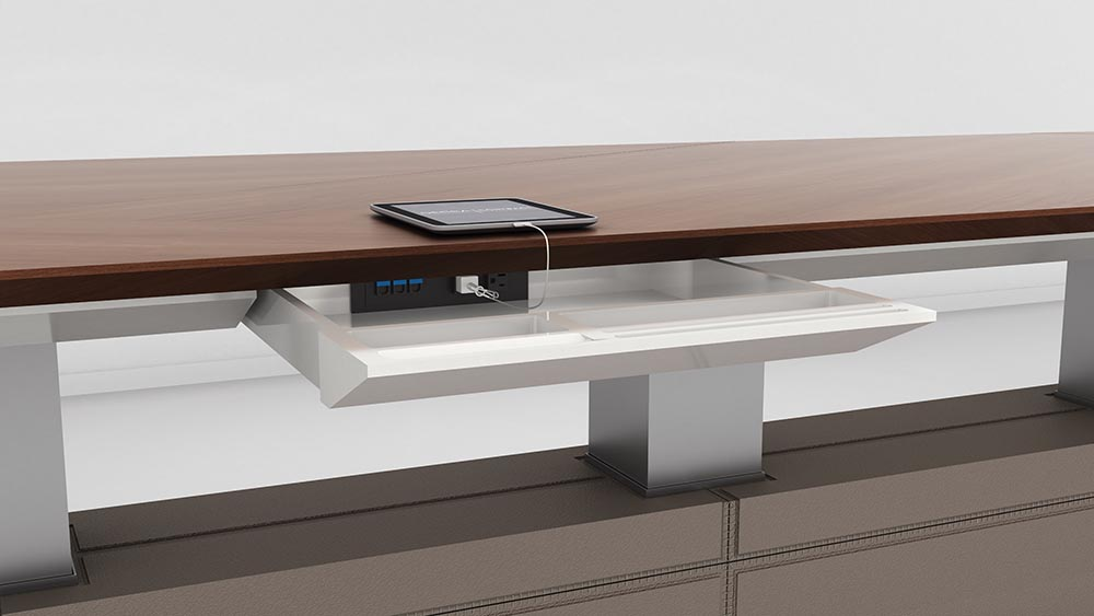 decca london-height adjustable conference table-motile-detail-power-access