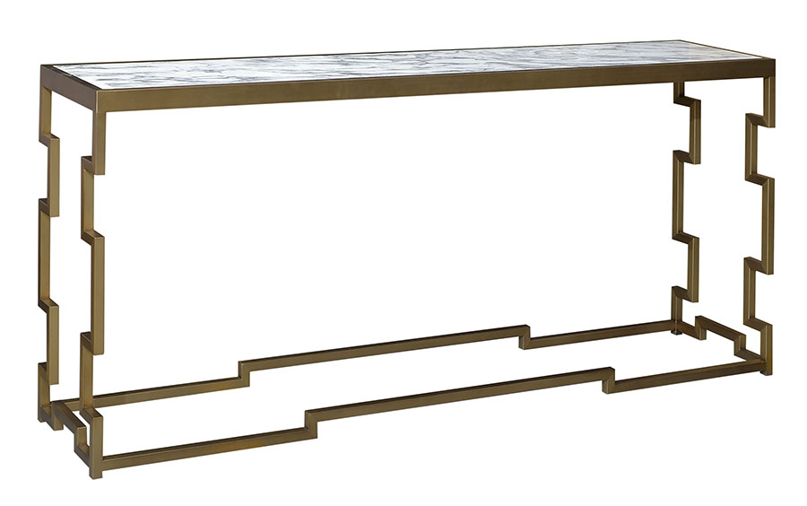 bespoke console with burnished bronze by decca