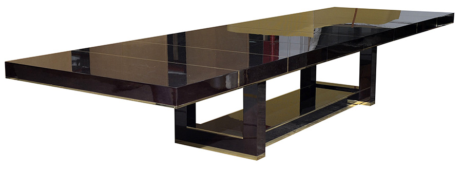 extendable dining table by Decca London