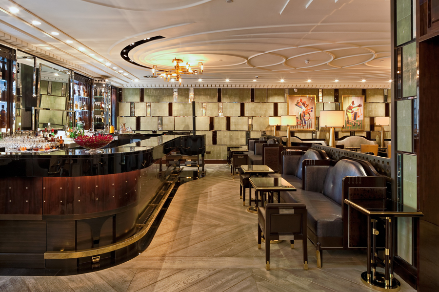 Bassoon Bar at Corinthia Hotel London // Designed by David Collins Studio, produced by Decca London