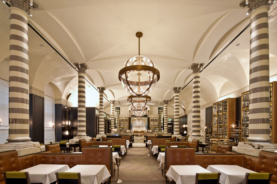 Massimo Restaurant // Corinthia Hotel London // Designed by David Collins Studio, produced by Decca London