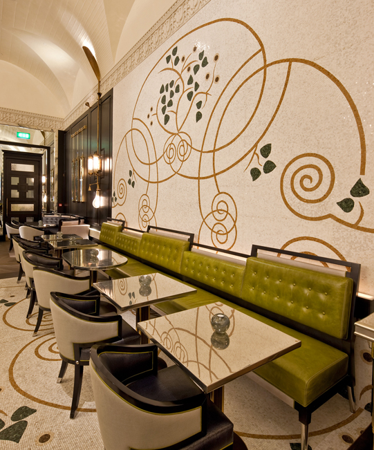 Massimo Restaurant // Corinthia Hotel London // Designed by David Collins Studio, produced by Decca London