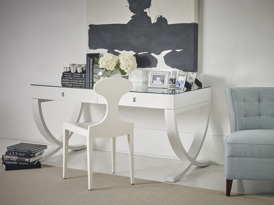 Rosenau Desk & Chair in Fabre finish by Bolier for Decca Home