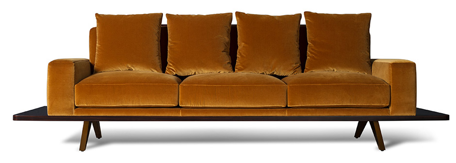 BF-12003RS Amber (front)_The London Collection_earthy yellow furniture