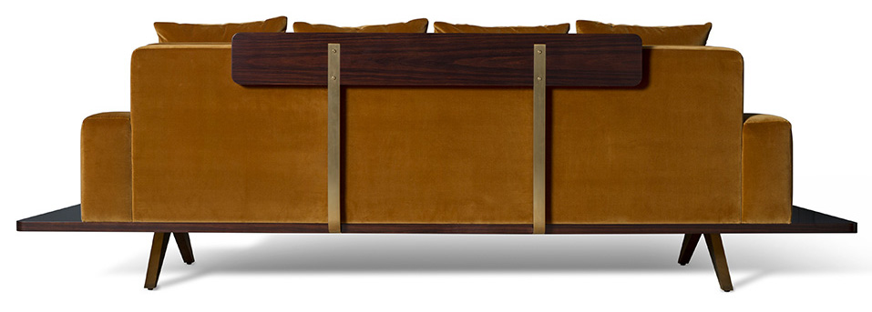 BF-12003RS Amber (veneered back)_The London Collection_earthy yellow furniture