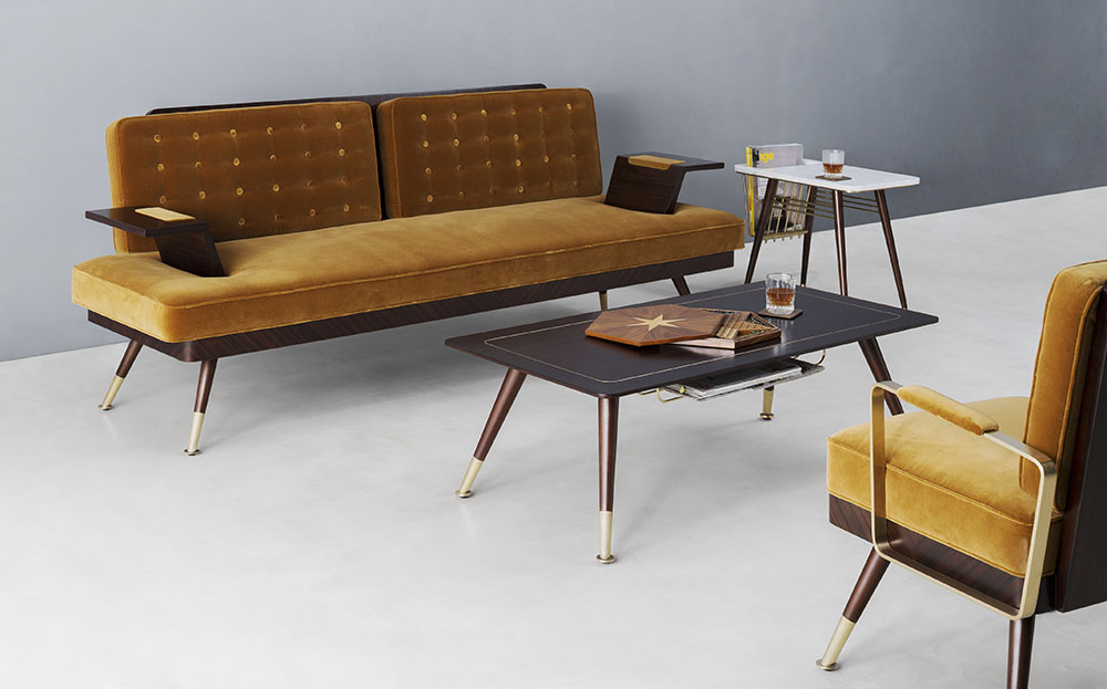 The London Collection by Bert Frank_earthy yellow_mid century modern furniture