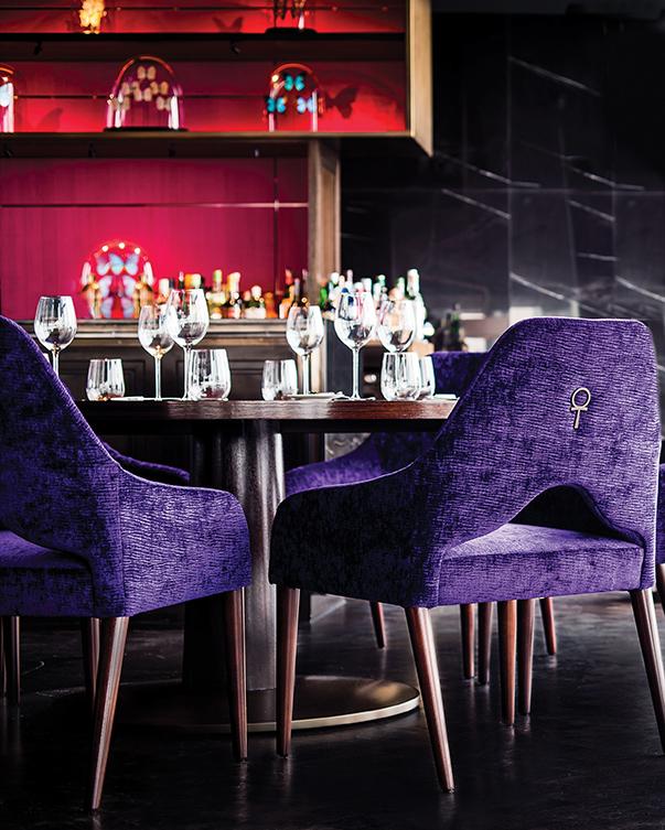 Decca London-Jestico Whiles-Aqua shard chair detail