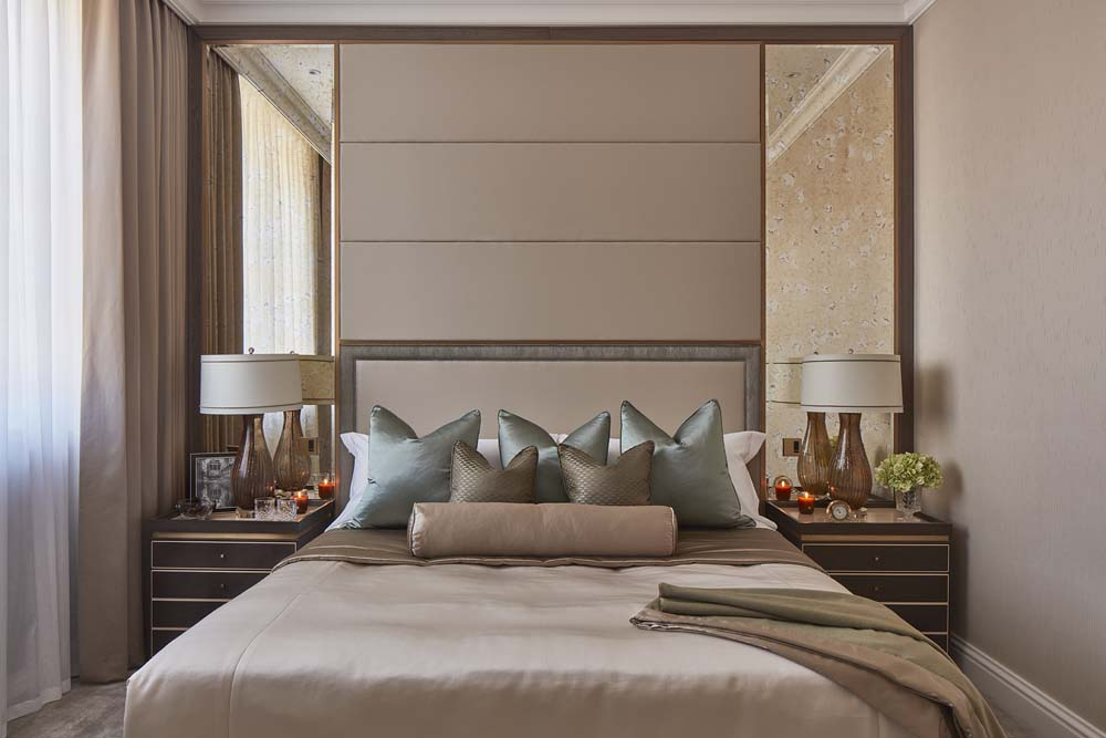 luxury master bedroom-bespoke furniture by Decca-Auberry-Carlos Place