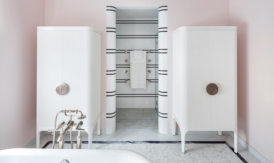 Carden Cunietti residential bathroom storage unit made by decca