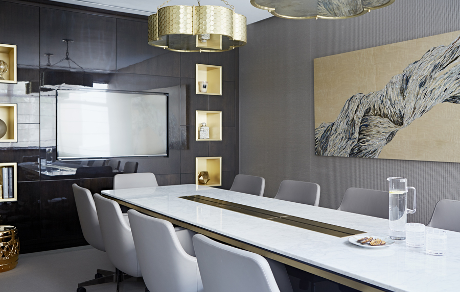 Cheval Place Taylor Howes office-conference table by Decca London