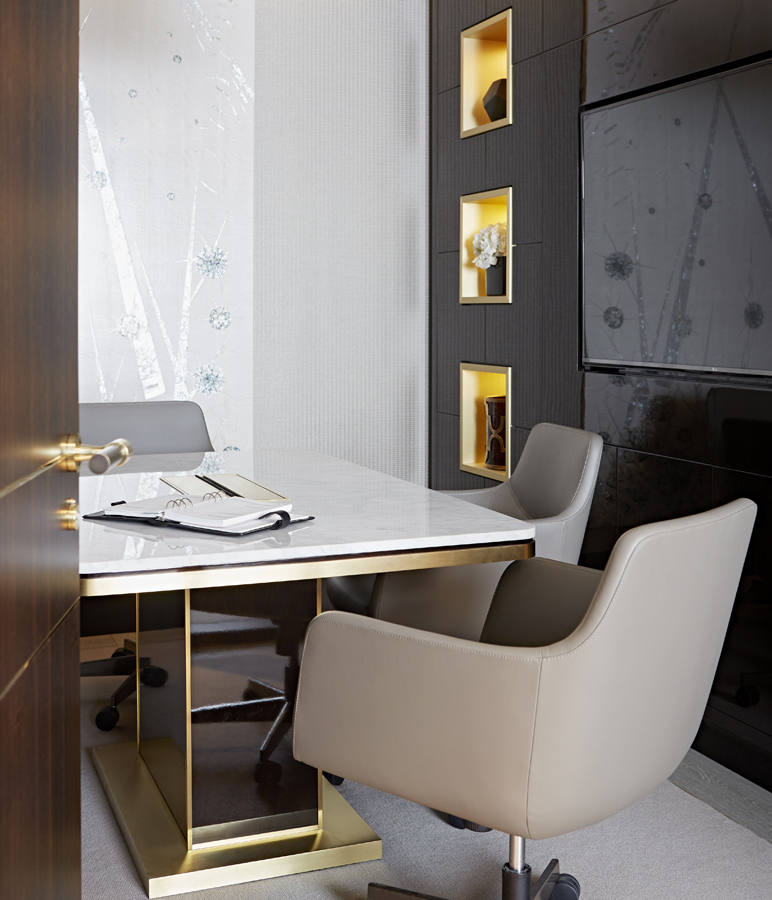 Meeting room // Taylor Howes office // Cheval Place // Bespoke furniture by Decca London