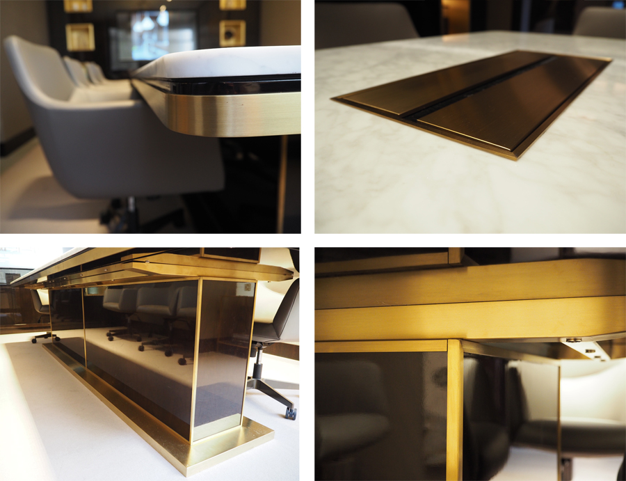 Cheval Place Taylor Howes office - conference table made by Decca London