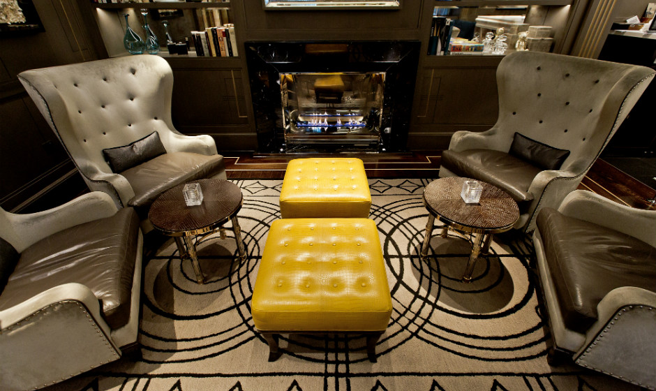 Brigitta Spinocchia Freund-The Churchill Bar-Wingback-Chairs-DeccaLondon
