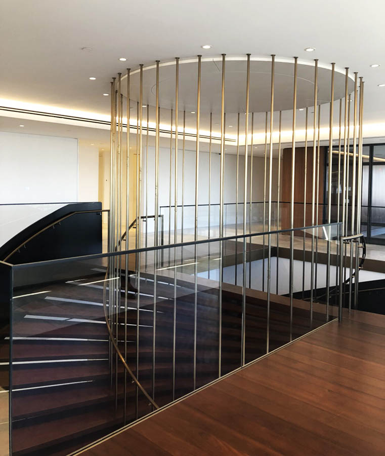 Decca Furniture bespoke spiral timber and metal staircase