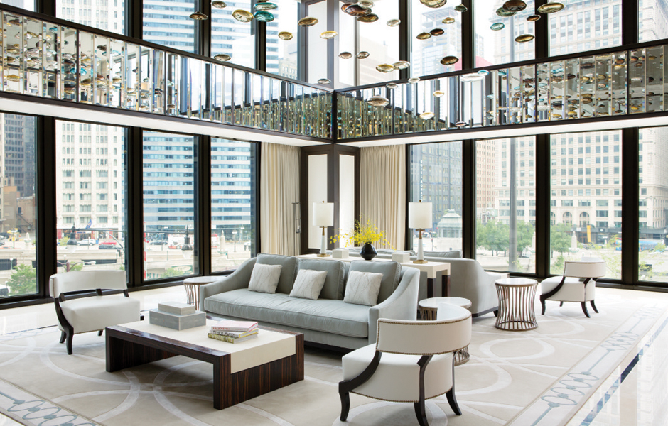 The Langham Chicago_lobby_Richmond Design_furniture made by Decca