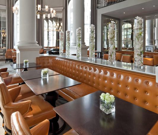 Decca London-Corinthia hotel-northall restaurant-ga design-banquettes-coffee-tables