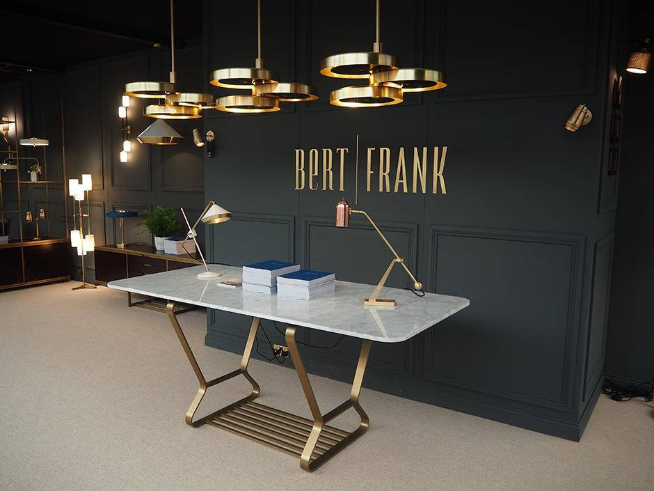 Bert Frank at Decorex 2016-display table by Decca London